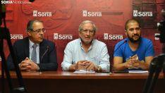 Mugarza, (izda.), Bárez y López este miércoles. /SN