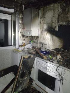 Estado de la cocina en el inmueble de la calle Diego Lainez. /Ayto.