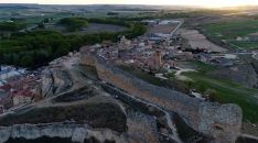 Vista aérea del castillo.