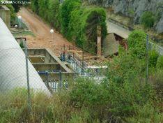 La depuradora hoy en Soria. SN
