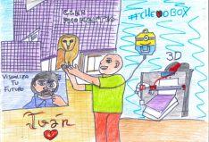 El dibujo de Iván para el CIFP Pico Frentes.