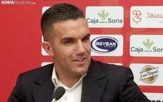 Álvarez, en su despedida de la afición numantina el 24 de julio del año pasado. /SN