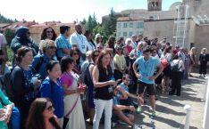 Participantes del coloquio en una de las actividades de este jueves.