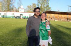 María Uriel junto a Bernat Díez. /Izana Silva