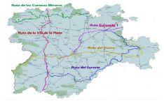 El mapa con las cinco rutas.