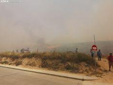 Incendio en San Esteban de Gormaz.