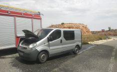 Imagen de la furgoneta siniestrada.