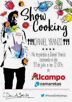 El cartel del show cooking