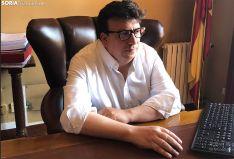 Jesús Cedazo atiende a Soria Noticias. /Daniel Alcalde