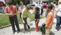 Acogida de niños saharauis en Soria. /Archivo.