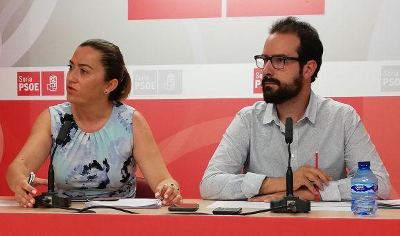 Virginia Barcones y Ángel Hernández este lunes en rueda informativa.