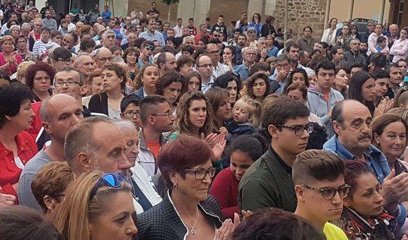 Concentración ayer en Salas de los Infantes. /Pinares Noticias