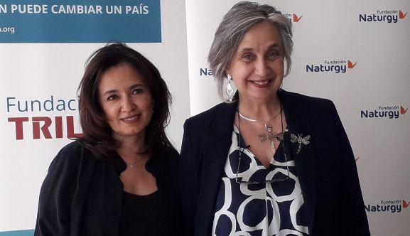 María Eugenia Coronado (izda.) y Carmen Pellicer.