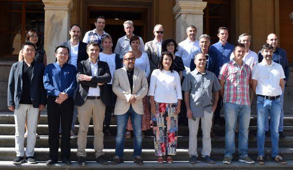 Imagen de los integrantes del EMI en su visita al ayuntamiento. /Ayto.