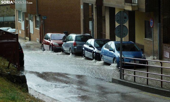Una calle de la capital esta tarde. /SN