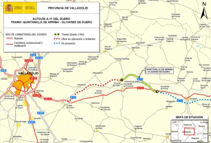 Mapa del nuevo tramo licitado.