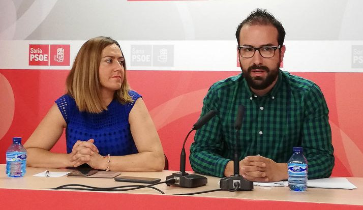 Virginia Barcones y Ángel Hernández.