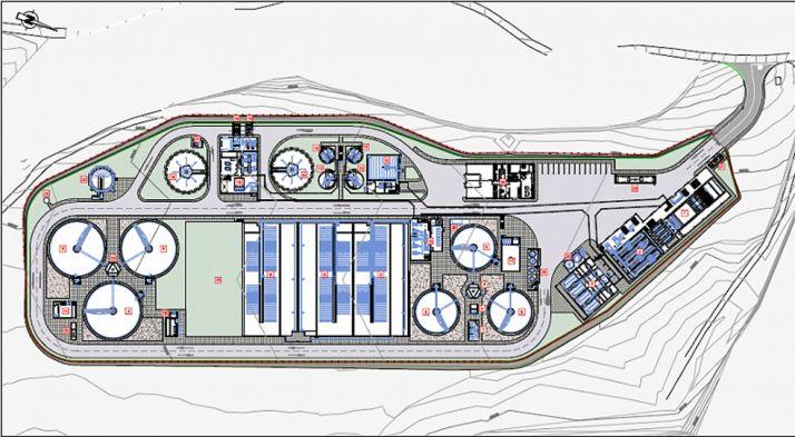Una imagen del proyecto de la EDAR.
