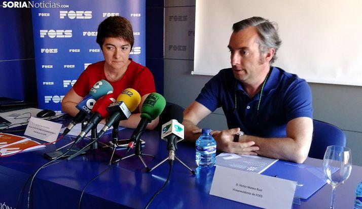 Mercedes Ciria y Víctor Mateo este viernes en rueda informativa. /SN