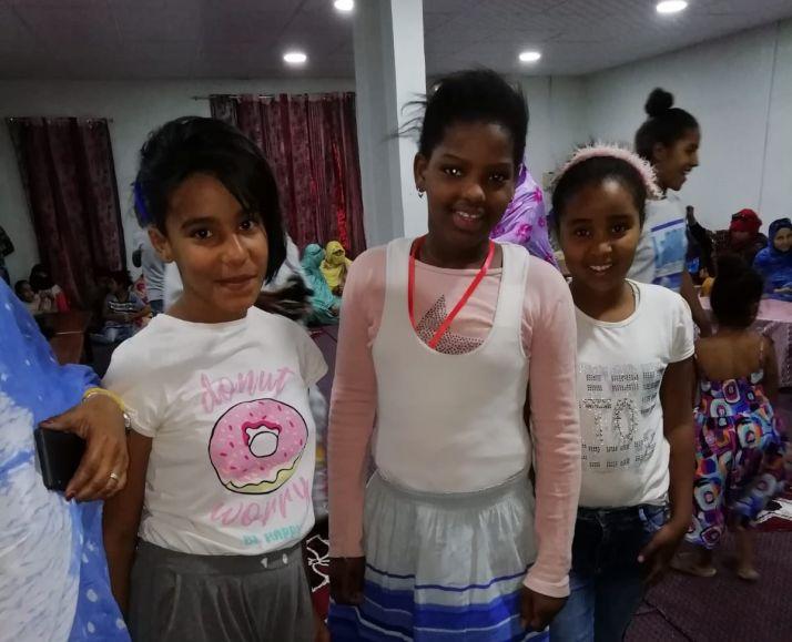 Niñas saharauis participantes en el programa.
