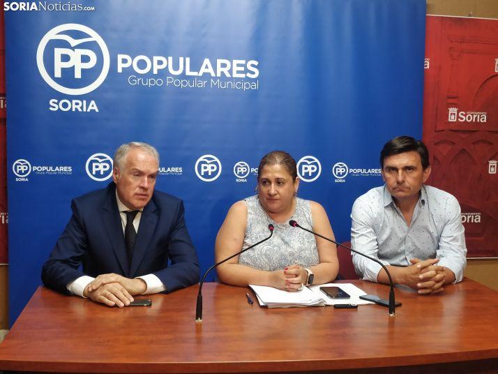 Los portavoces del grupo popular. PP