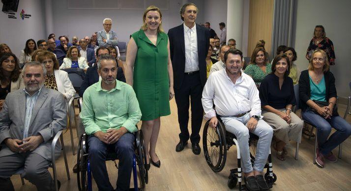 Isabel Blanco, este martes en la reunión con representantes de colectivos del Tercer Sector. /Jta.
