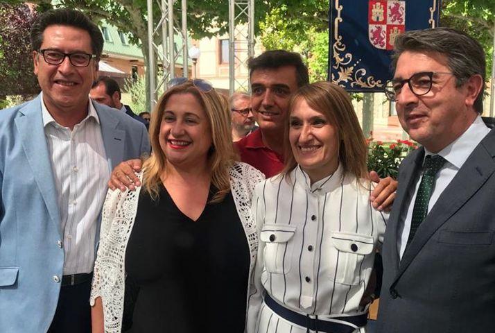 Yolanda de Gregorio (izda.) y Rocío Lucas, este miércoles en Valladolid. /PP