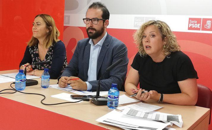 De izquierda a derecha, Barcones, Hernández y Villar, este jueves en rueda informativa.