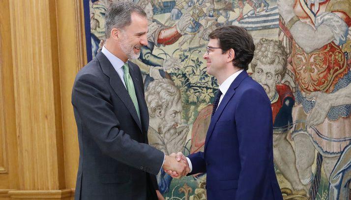 SM Felipe VI y Fernández Malueco. /Casa Real