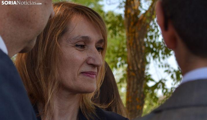 Rocío Lucas, este sábado en la romería. /SN