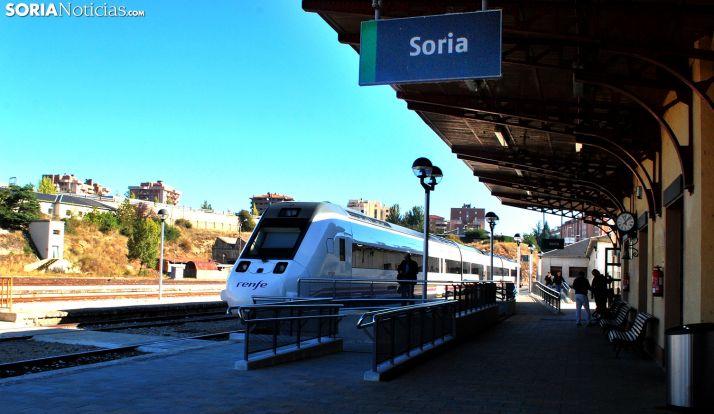 Imagen de la estación de RENFE en la capital soriana. /SN
