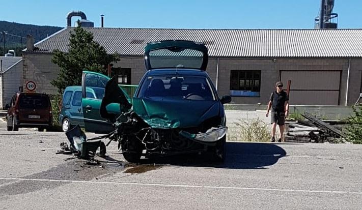 Imagen del accidente en Covaleda.