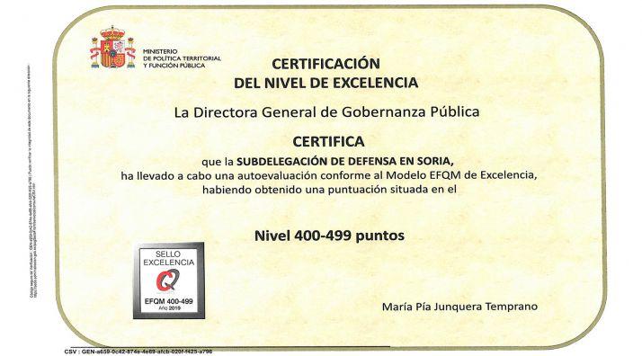 Foto 1 - La Subdelegación de Defensa obtiene el Sello de Excelencia +400