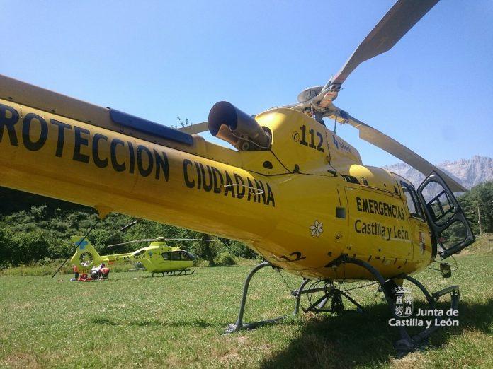Helicóptero sanitario del SACyL.