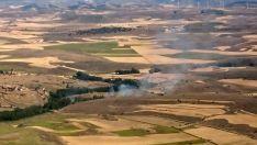 Vista aérea del incendio. /BRIF