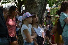 Escenificación de 'Só' en la Alameda de Cervantes.