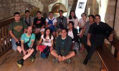 Los jóvenes madrileños de peregrinación por el Moncayo soriano.
