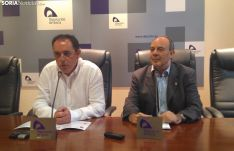 Benito Serrano y Javier Muñoz durante la rueda de prensa.