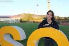 Marta Pérez, después de realizar un entrenamiento en el CAEP. SN