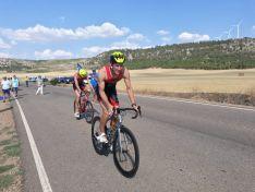 Jaime Izquierdo, montando en bicicleta. Imagen del Twitter del atleta