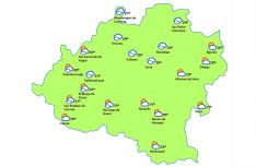 Mapa de la provincia a las 14:00 horas. /eltiempo.es