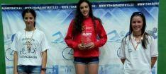 María Mediavilla, campeona de Castilla y León en triatlón cross Cadete.