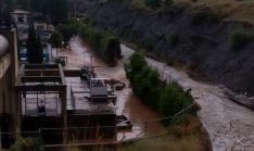Los destrozos causados en la EDAR por la riada hace un mes.