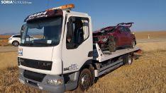 Imagen del estado del vehículo tras el accidente. /SN