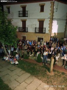 Inicio de la fiesta en Valdeavellano de Tera con la lectura del pregón. SN