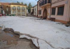 Imagen de la espectacular granizada en Almazul.