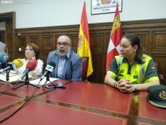 Miguel Latorre en la rueda de prensa. SN