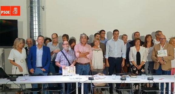 Una imagen del encuentro mantenido este martes con colectivos de la 'España Vaciada'. /PSOE