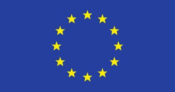 Bandera de la Unión Europea. UE
