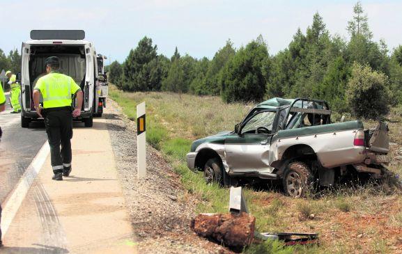 Uno de los accidentes mortales producidos en las carreteras sorianas.